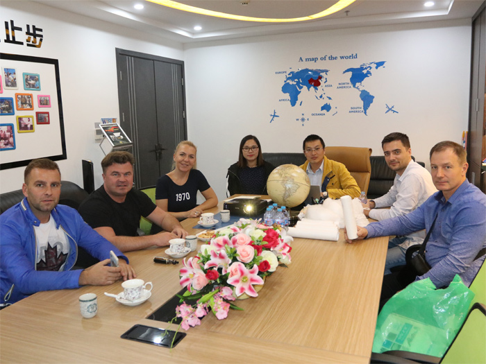 Warmly welcome Polish plastic pelletizing customers to visit and inspect!